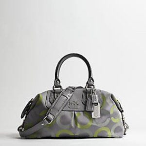 Coach Madison Op Art Sabrina Green/Gray Satchel
